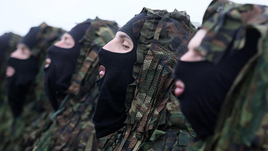 Białoruskie wojska w czasie manewrów, 2017 r.