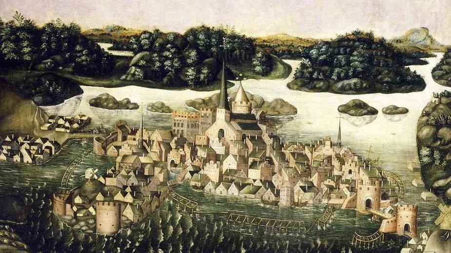 Panorama Sztokholmu z 1535 roku - domena publiczna