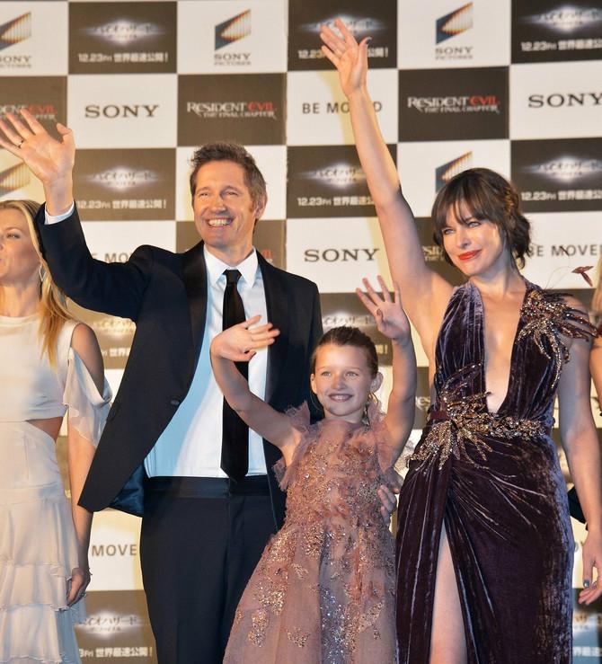 Mila sa suprugom i ćerkom