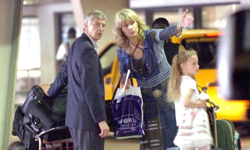 Arsene Wenger z żoną Annie