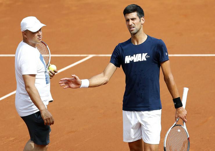 Novak Đoković i Marijan Vajda