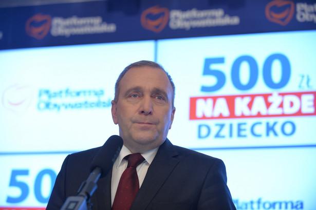Schetyna: 500+ to święta obietnica państwa polskiego
