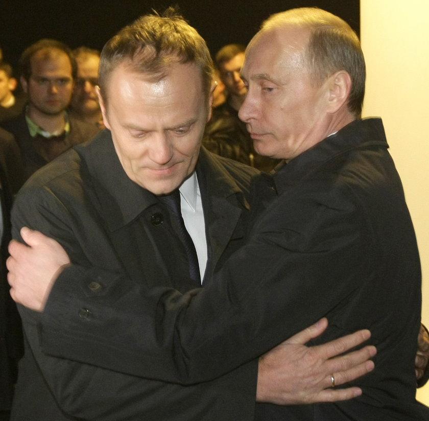 Niepublikowany film z Tuskiem i Putinem w Smoleńsku