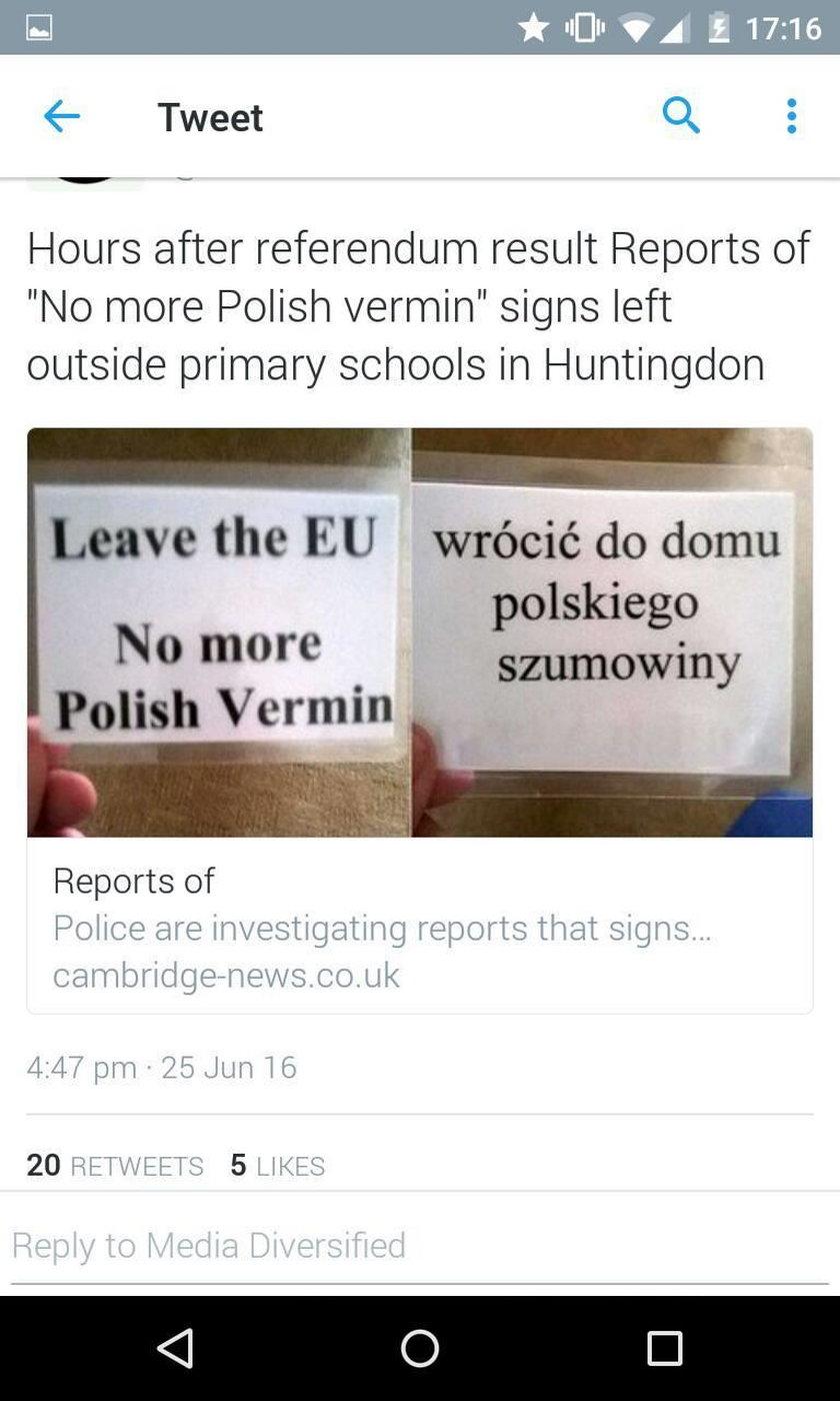 Polacy prześladowani w Anglii