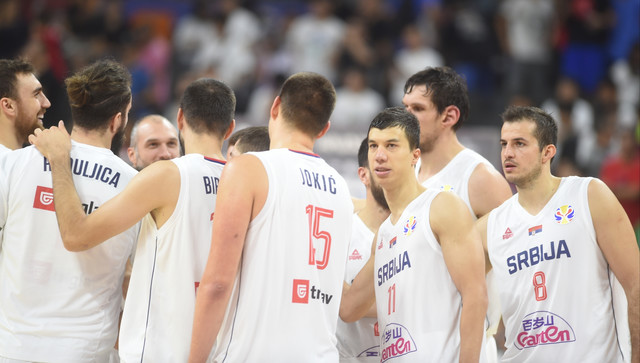 Košarkaši Srbije nakon meča sa SAD