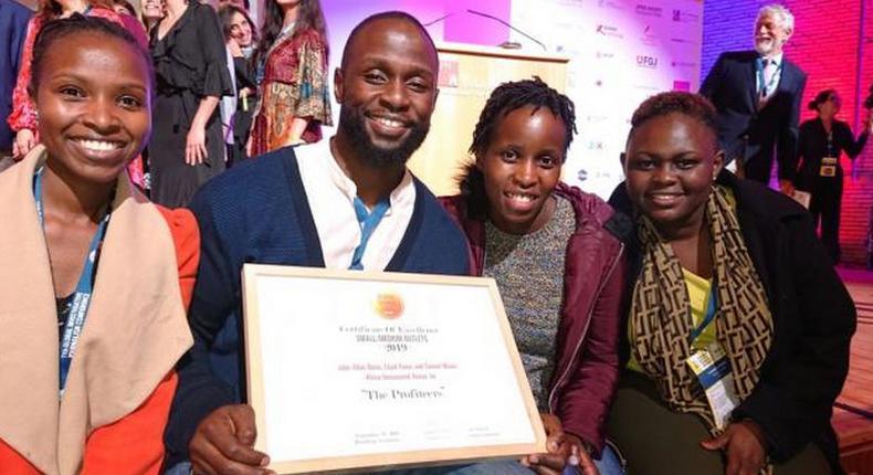 John Allan Namu after winning the prestigious Global Investigative Journalists Network's Global Shining Light Award