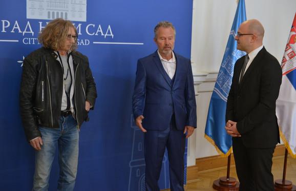 Lazar Rokvud i Džon Sevidž u poseti Novom Sadu