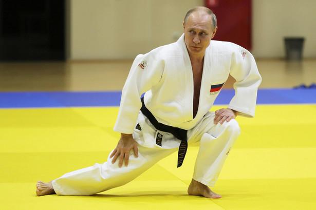 Prezydent Władimir Putin trenował w lutym 2019 r. w Soczi z kadrą narodową Rosji