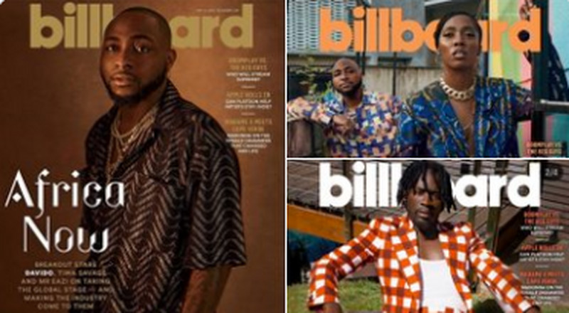 Davido, Tiwa Savage and Mr. Eazi are cover stars for Billboard magazine