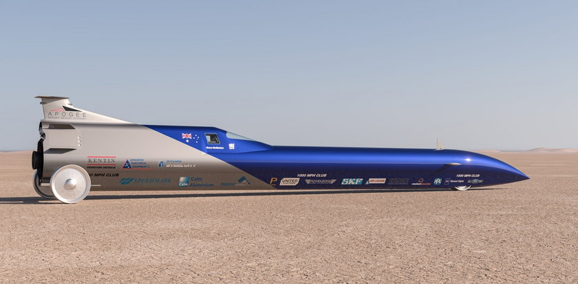 Samochód z napędem rakietowym. Do ilu kilometrów rozpędza się ta bestia? ZDJĘCIA