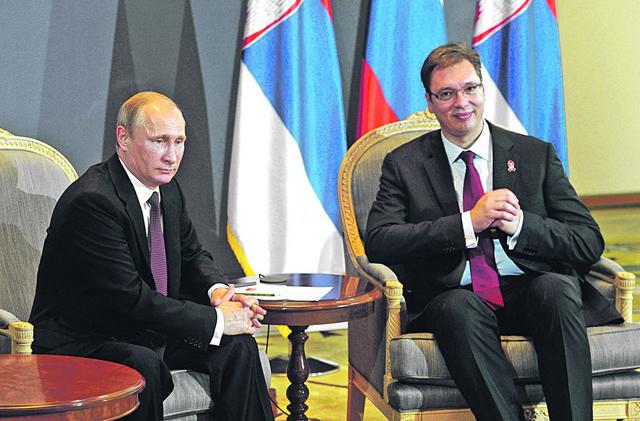 Vladimir Putin i Aleksandar Vučić