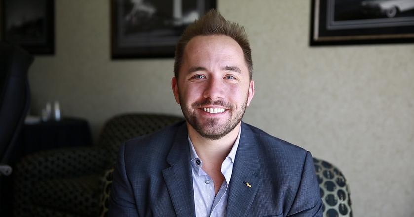 Drew Houston, prezes Dropboxa - usługi do przechowywania plików online