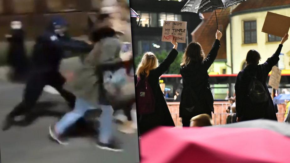 Strajk kobiet. Atak na protestujących we Wrocławiu