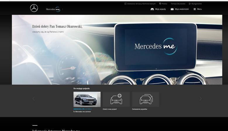 Mercedes Me - portal użytkownika
