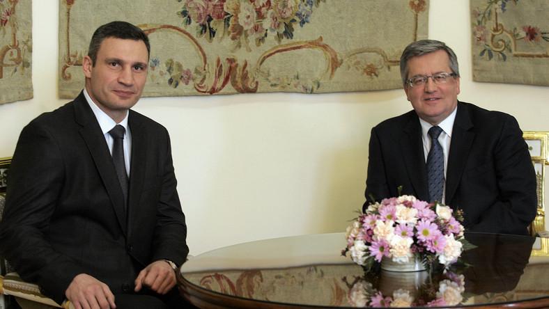 Komorowski i Kliczko: Umowa stowarzyszeniowa UE-Ukraina to priorytet
