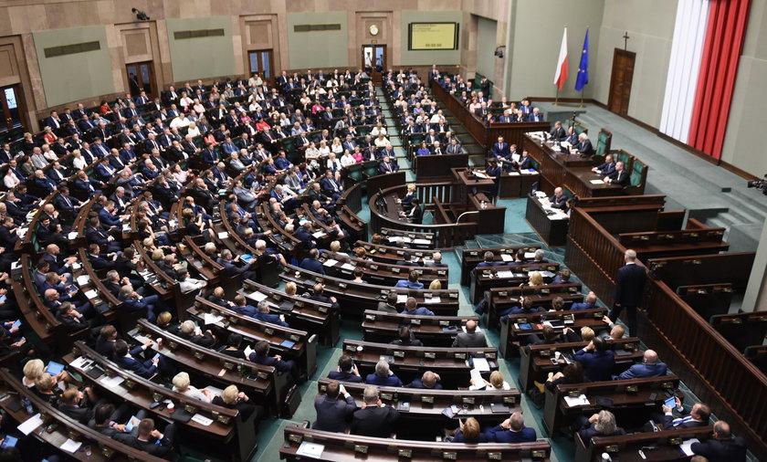 Posiedzenie Sejmu.