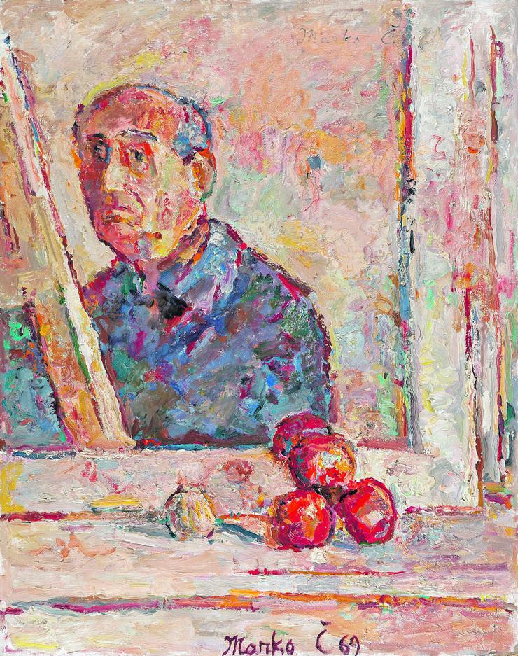 """Marko Čelebonović, """"Autoportret u ogledalu za štafelajem"""""""