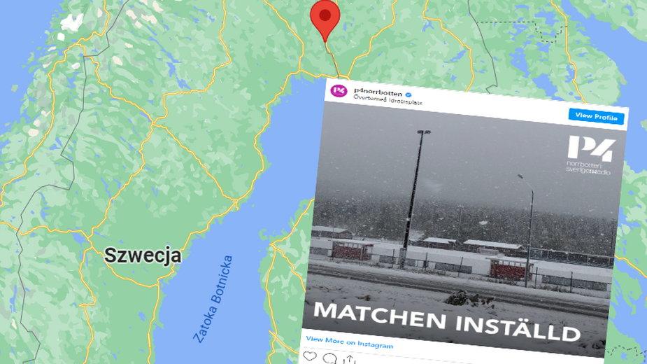 Wyjątkowo wczesne opady śniegu na północy Szwecji