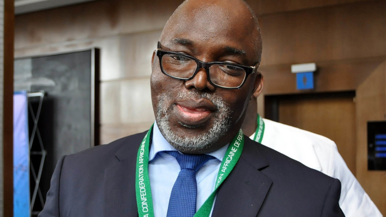 Amaju Pinnick and Presidency debunk reports of arrest and prosecution of the NFF boss (Twitter/NFF)