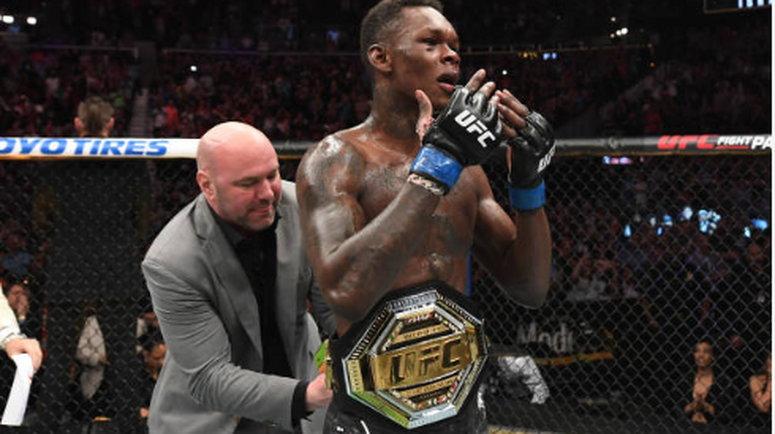 Israel Adesanya is the new UFC interim middleweight champion after beating Kelvin Gastelum in an epic fight (Josh Hedges/Zuffa LLC/Zuffa LLC via Getty Images)