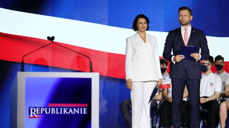 Anna Popek i Kamil Bortniczuk na kongresie Partii Republikańskiej