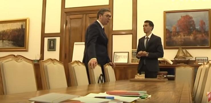 Aleksandar Vučić intervju TV Prva prtscn Prva
