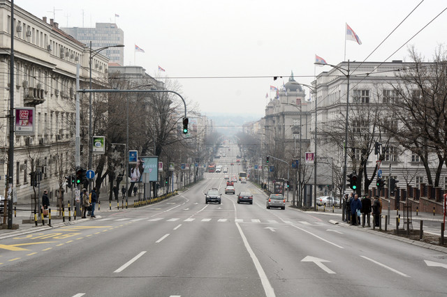 Bez saobraćaja u većem delu Ulice kneza Miloša