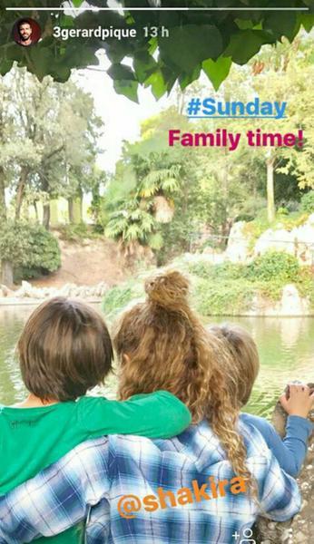 Shakira z dziećmi fot. Gerard Pique