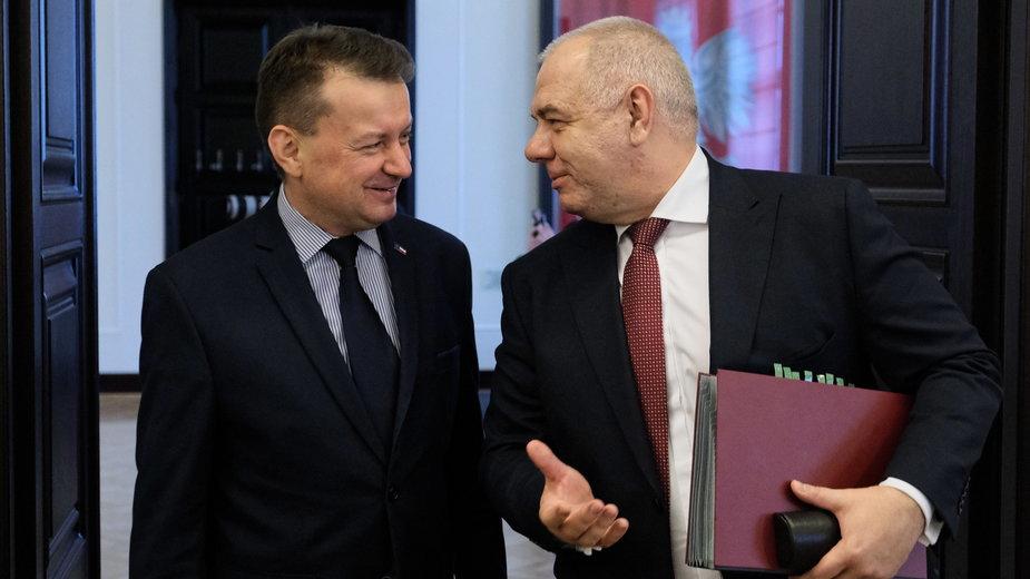 Mariusz Błaszczak i Jacek Sasin