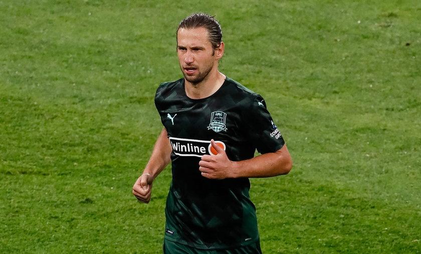 Grzegorz Krychowiak ukarany czerwonąkartką w meczu Krasnodaru z Rostowem.