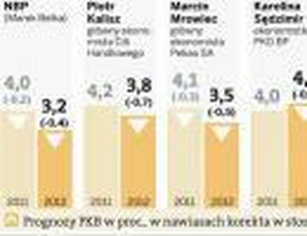 NBP i ekonomiści korygują w dół prognozy wzrostu gospodarczego