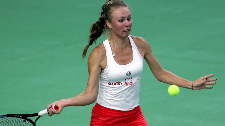 Magdalena Fręch w pojedynku z Caroliną Meligeni Alves