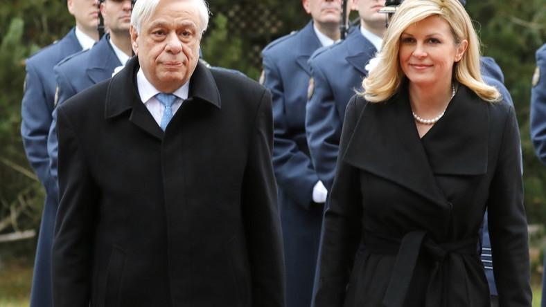 W kończącym się tygodniu prezydent Chorwacji podejmowała w Zagrzebiu prezydenta Grecji...