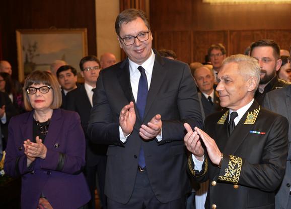 Maja Gojković, Aleksandar Vučić i Aleksandar Bocan Harčenko