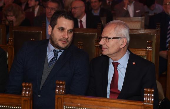 I predsednik FK Crvena zvezda, Svetozar Mijailović, prisustvovao je dodeli priznanja našeg Olimpijskog komiteta