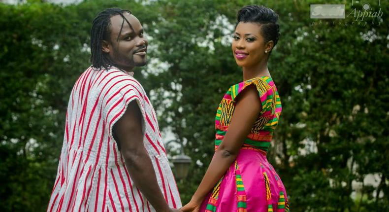Selly and Cartel Big J in pre-wedding shoot