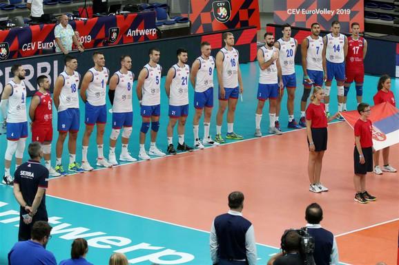 Odbojkaši Srbije na meču protiv Slovačke