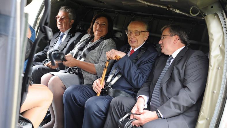 Bronisław Komorowski z żoną Anną, Władysław Bartoszewski i prezydent Austrii Heinz Fischer