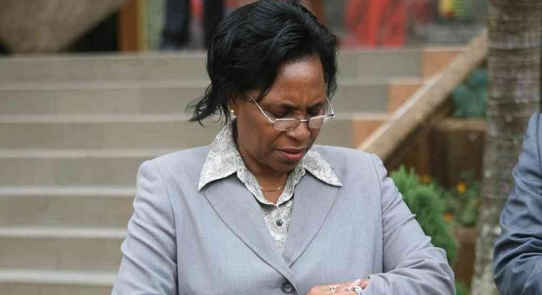 File image of Public Service, Youth and Gender Affairs CS Margaret Kobia