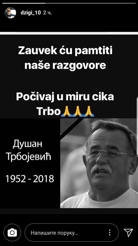 Oproštaj Nikole Ninkovića od čuvenog trenera