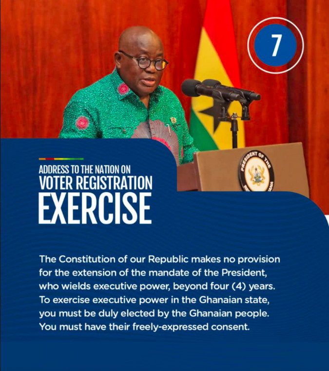 Mandate of the president cannot be extended