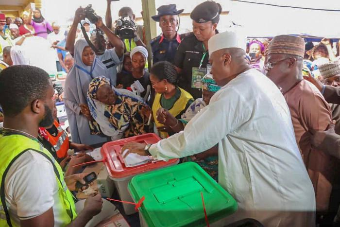 Saraki casts his vote in Kwara