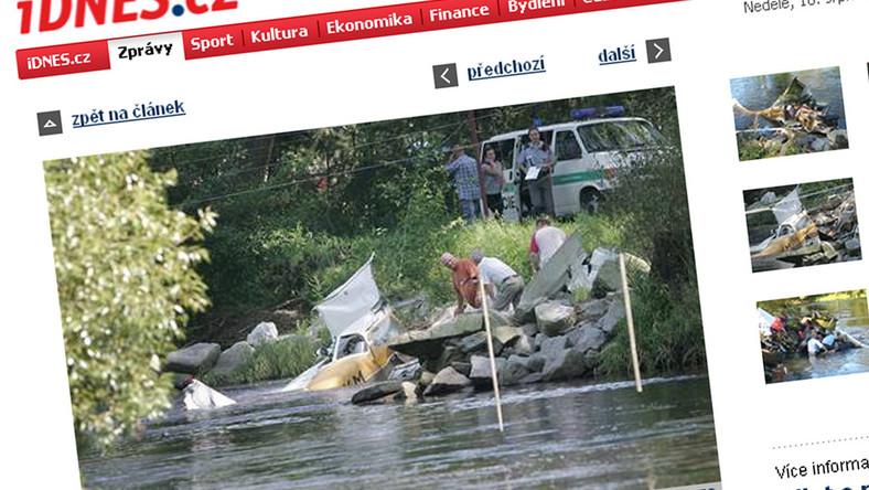 Mały samolot wpadł do rzeki. Są ofiary