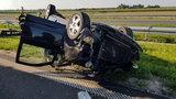 Wypadek na A4. Koziołkowało auto z turystami z Rumunii