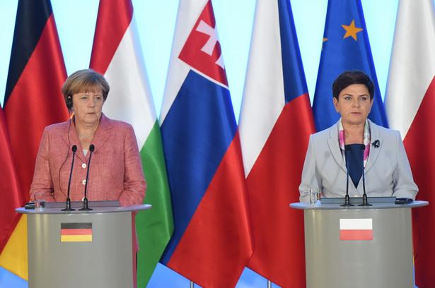 Premier RP Beata Szydło i kanclerz Niemiec Angela Merkel, PAP/Radek Pietruszka