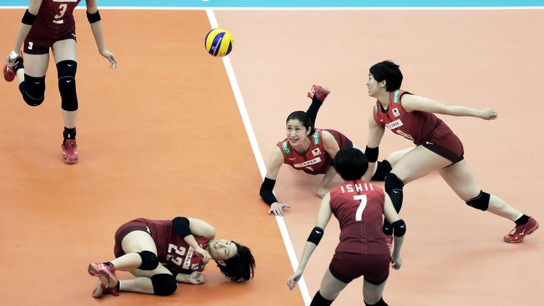 epa07086080 - JAPAN VOLLEYBALL FIVB WOMEN WORLD CHAMPIONSHIP (Japan vs Brazil)