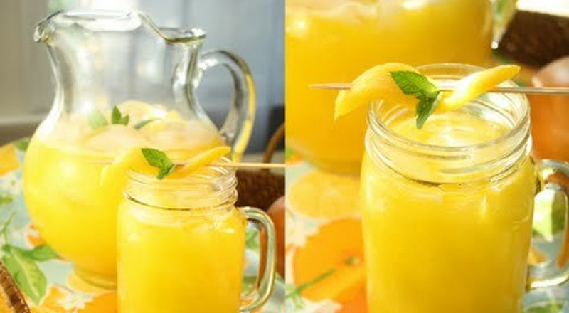 How to make mango ginger lemonade