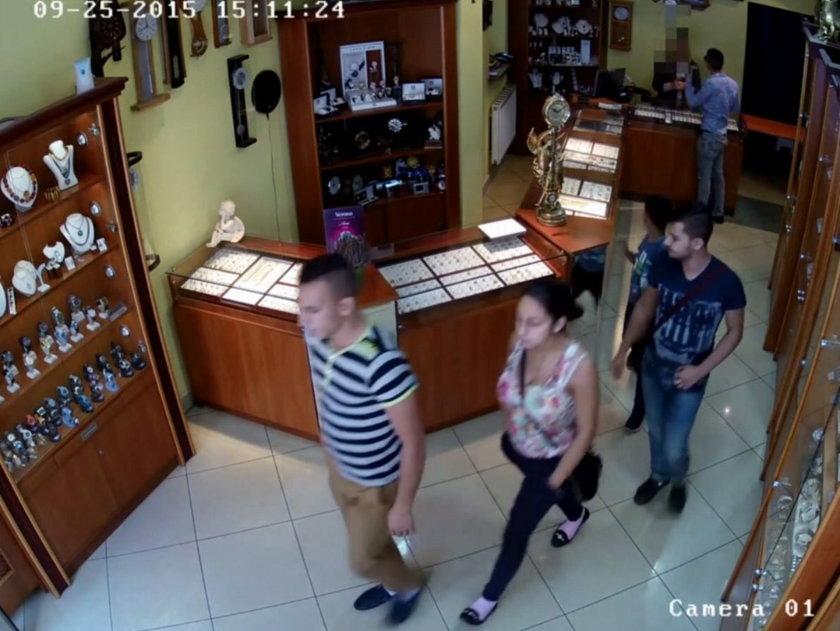Kradzież w sklepie jubilerskim