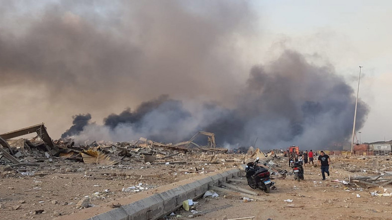 Eksplozja w porcie w Bejrucie
