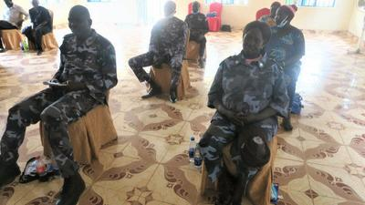 United Nations Police (UNPOL) officers conduct two-day refresher training for national policing counterparts in Warrap